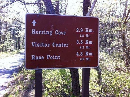 Cape Cod Provincelands Trail: Directional Sign 2