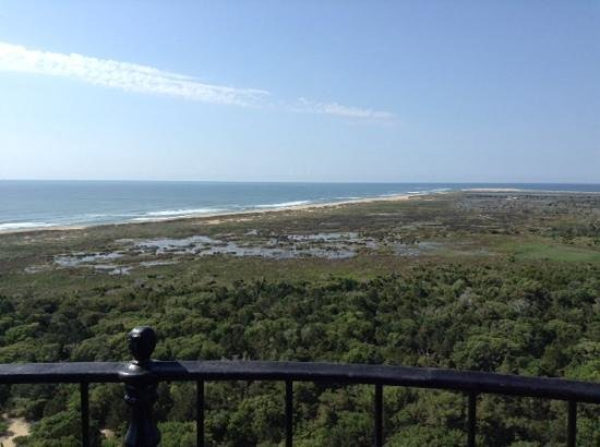 Cape Hatteras Lighthouse: view on top