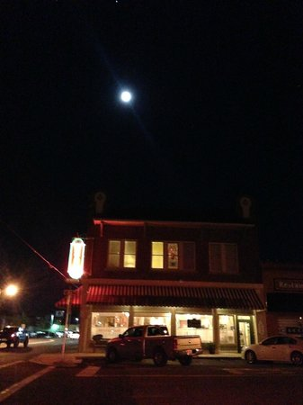 Moon lit night over Hotel DeFuniak Springs