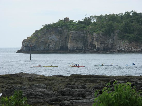 Maine Island Kayak Company: Kayaking out & around smaller islands...