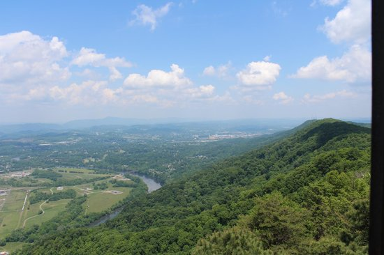 Bays Mountain Park & Planetarium : View looking back towards Kingsport from the Fire Tower