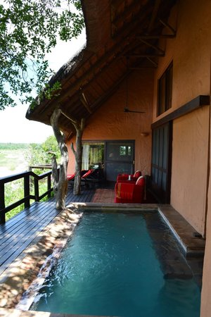 Singita Ebony Lodge: Private pool attached to Suite