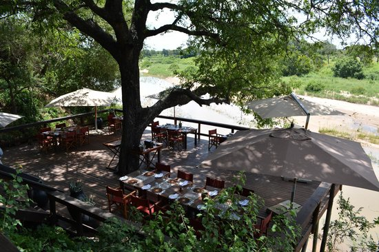 Singita Ebony Lodge: Dining Area for lunch