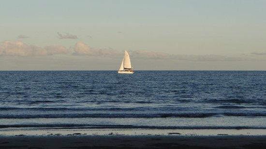 Mandalay & Shalimar Luxury Beachfront Apartments: Late evening sails.