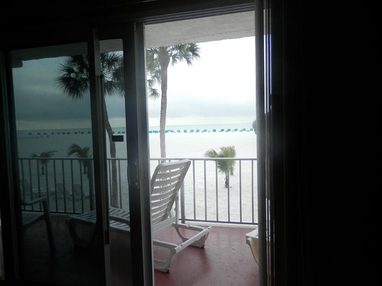 Outrigger Beach Resort : Looking through door of balcony from inside room
