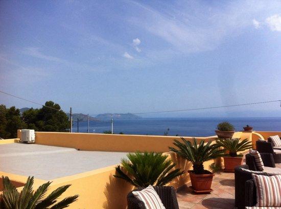 Hotel - Residence Al Belvedere Salina : Fantastica la vista sul mare!