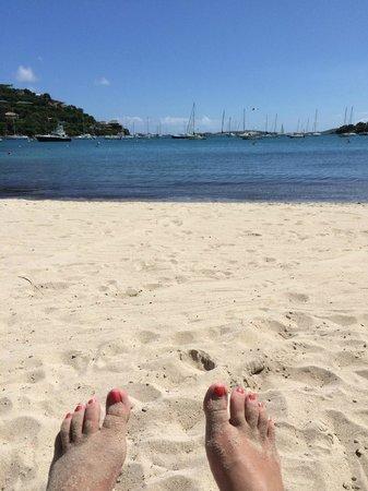 The Westin St. John Resort Villas: Sitting on the beach