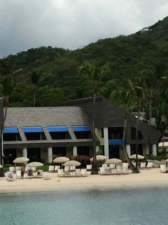 The Westin St. John Resort : Hotel from the cove