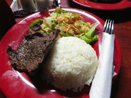 The Sportsmens Hotel: Overcooked rump steak