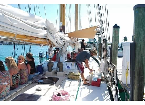 Schooner Appledore: Preparing for a day out
