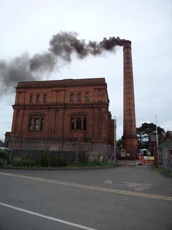 Claymills Victorian Pumping Station: Oops, steam's a bit black!