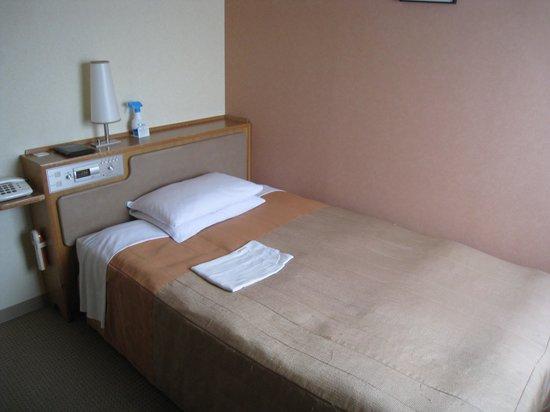 The Crown Plalace Hotel New Hankyu Kochi: ほつれのあるベッドカバーが貧相