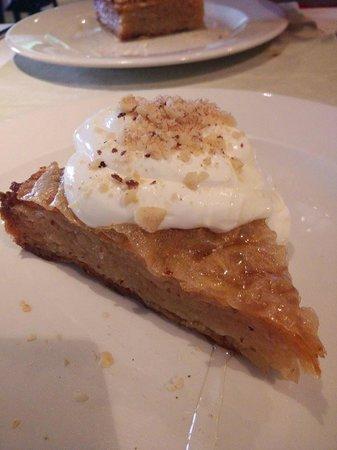 ABC Restoran: Dessert - dry pie of nuts with a yoghurt/honey topping