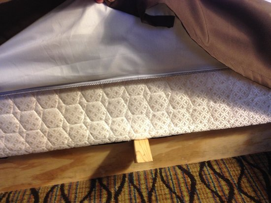 Holiday Inn & Suites Duluth Downtown : Homemade bed frames.