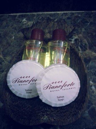 Pianoforte Hotel: shampoo en zeep