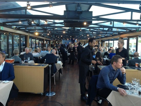 """Bateaux London : interior of  """"Symphony"""" from table 111"""