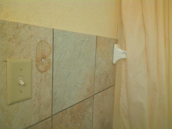 Metro Inn Motel: Broken towel holder