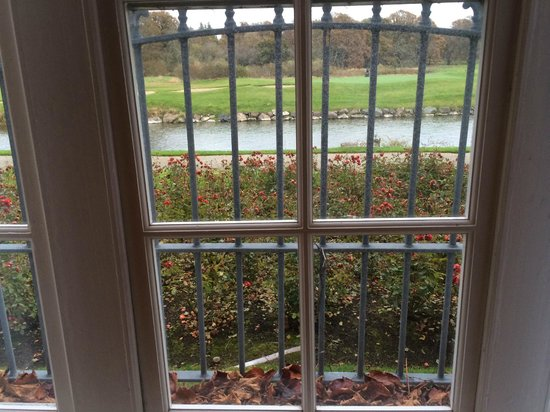 Adare Manor: This is the view from the most basic room--over rose gardeen and river running through grounds