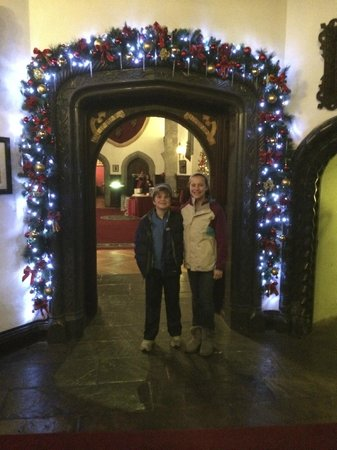 Adare Manor: One of many archways decorated for Christmas