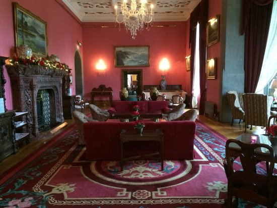 Adare Manor: Enjoyed afternoon tea and drinks before dinner in this beautiful room