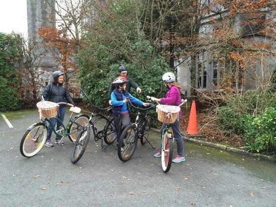 Adare Manor: kids biking on grounds
