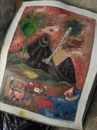 Sandals Grande St. Lucian Spa & Beach Resort: Our beautiful painting by Raskassah!