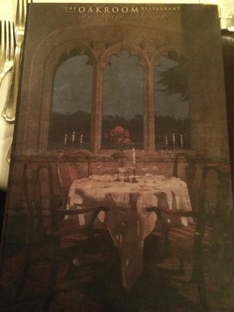 Adare Manor: Enjoyed Thanksgiving dinner at this table! (photo of menu cover)