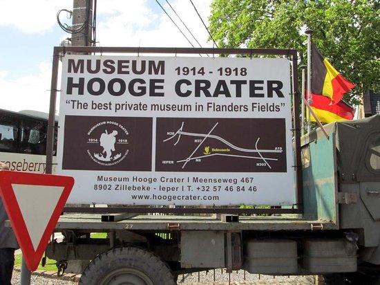 Hooge Crater museum : museum sign