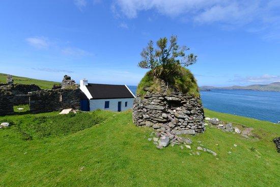 Dingle Bay Charters : Beehive hut on Blasket Island