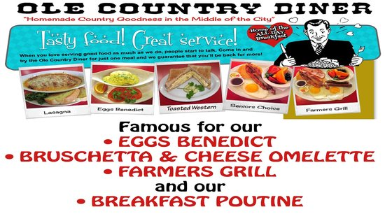 Ole Country Diner: Come give us a try!