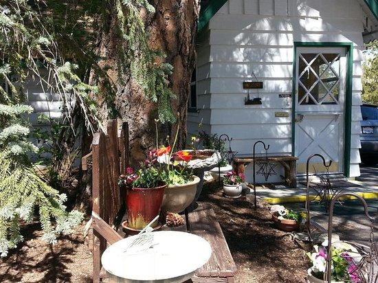 Hillcrest Lodge: Front planter area