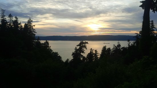 Charles at Smugglers Cove Restaurant: View from the back deck overlooking the Sound