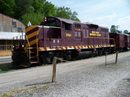 Great Smoky Mountains Railroad: Train at Bryson City, NC