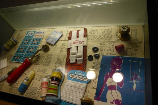 DDR Museum : Sewing stuff in ne of the interactive drawers