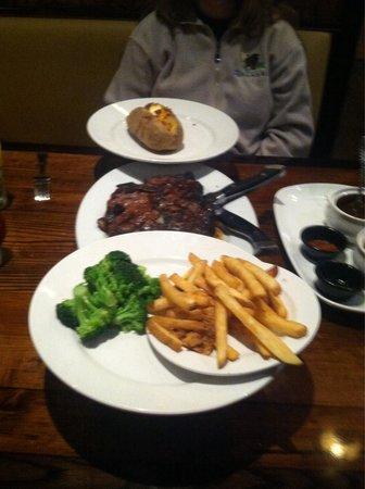LongHorn Steakhouse: Porterhouse for two platter.