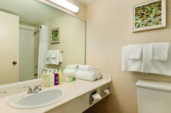 Coast Plaza Hotel & Conference Centre: Superior King Guest Bathroom