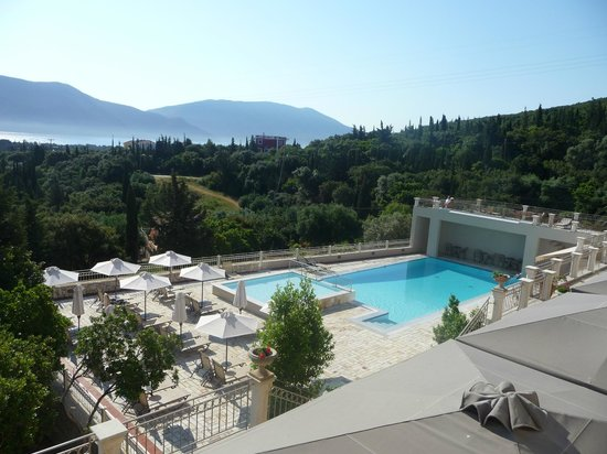 Almyra Hotel : Front View over pool