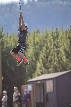 Snow Mountain Ranch: Zipline! (courtesy of Phil Frigon)