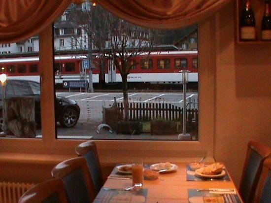 Hotel Crystal: See trains pull in from your table