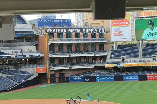 Petco Park: Seating on the old warehouse
