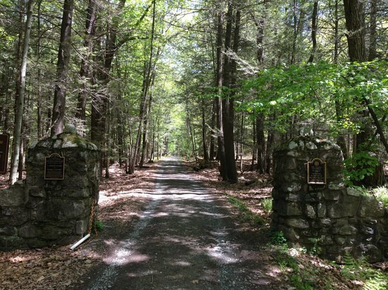 Lacawac Sanctuary: entrance of the lodge road