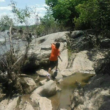 Great Falls Park: My son enjoying the rocks