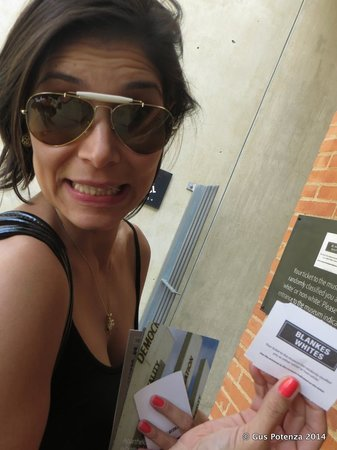 Museo del Apartheid: My wife got the WHITE ticket.