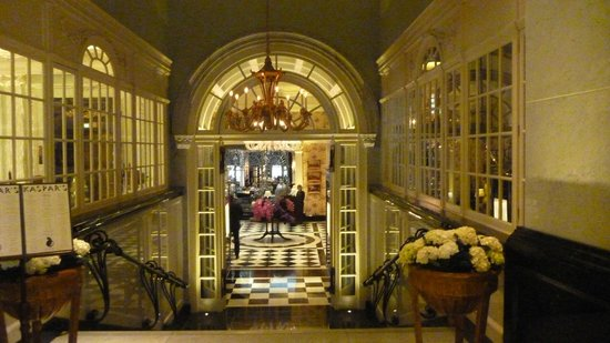 The Savoy: The entrance to the tea room and restaurant