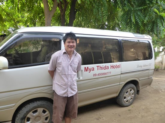 Mya Thida Hotel: Wai Lin with the company limo