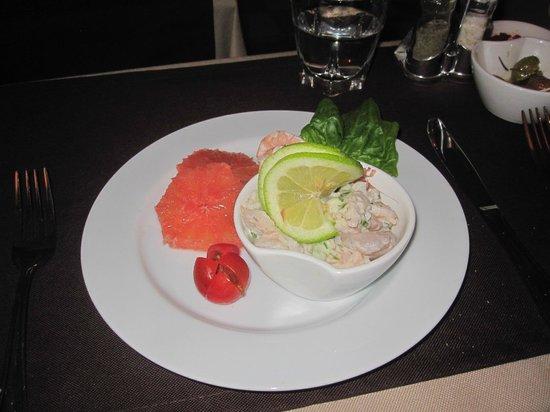 Legnaoui : Assiette de Crevette au Pamplemousse
