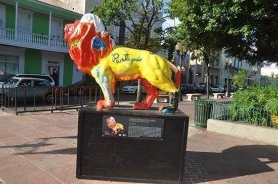 Plaza of Delights (Plaza de las Delicias): Colorful Lion