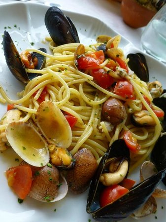 La Capannina: Pasta with seafood - delicous