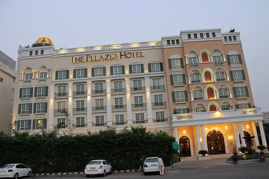 The Pllazio Hotel - the neoclassical look starting from the outside