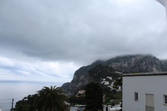 Hotel La Certosella : cool view from our balcony even when it was so cloudy and rainy